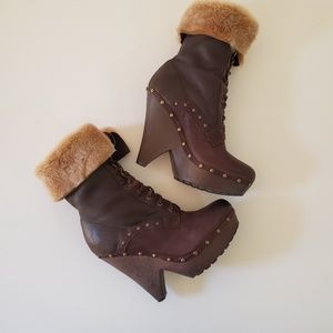 Sam Edelman Windsford boots with furr size 9M